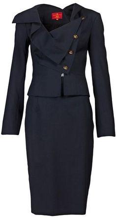 VIVIENNE WESTWOOD NAVY BLUE Womens Suit...navy blue suit