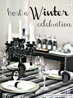 ideas-para-decoracion-de-navidad-blanco-y-negro (22) - Curso de organizacion de hogar aprenda a ser organizado en poco tiempo