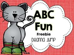 Colorful Cat ABC Fun Freebie {ABC Literacy Center}