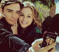 Chuck and Blair :-)  ummm in love with chuck bass!!! obsessed with gossip girl!