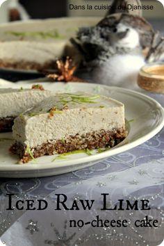 Iced raw lime no-cheese cake – #Vegan