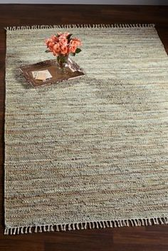 Tresse Leather Rug from Soft Surroundings