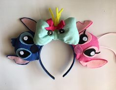 A personal favorite from my Etsy shop https://www.etsy.com/listing/538935651/lilo-and-stitch-inspired-mouse-ears