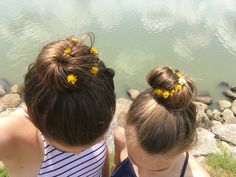 Put flowers in each other's hair <3