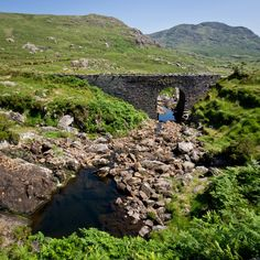 old bridge in Clashduff below Healy Pass, County Cork, Ireland.