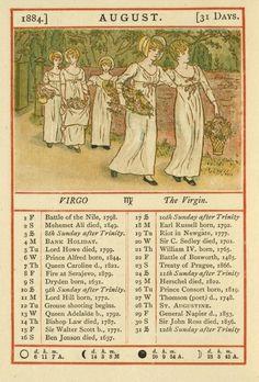 August - Kate Greenaway's Almanack for 1884