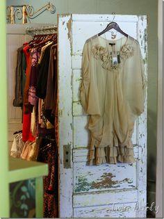 Old Door clothing rack