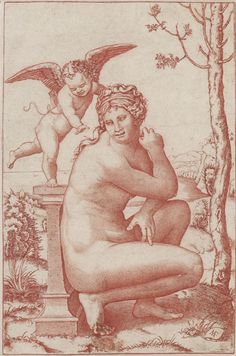 Crouching Venus -  Marcantonio Raimondi