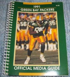 Original NFL GREEN BAY PACKERS 1991 Media Guide, Illustrated, Fast Shipping Incl