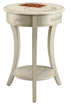 Philippa Curved Legs Round End Table