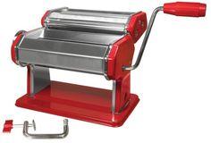 Weston Manual Pasta Machine, 6-Inch, Red - Cool Kitchen Gifts
