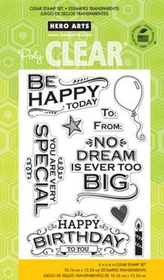 Hero Arts Clear Stamps 4X6 Sheet - Happy Today