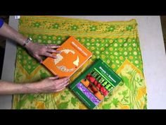 Sari Gift Wrap - Wrapping Two Books - YouTube