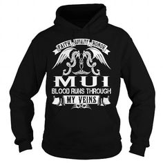 Awesome Tee MUI Blood - MUI Last Name, Surname T-Shirt T shirts