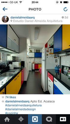 Mondrian inspired kitchen