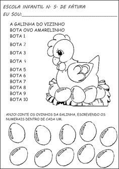 410c6c0a5 A Arte de Ensinar e Aprender: Atividades de matemática, numerais e  quantidade Atividades Diárias
