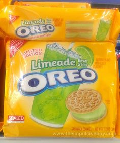 SPOTTED ON SHELVES - Nabisco Limited Edition Limeade Oreo Cookies