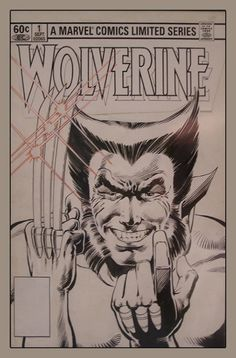 Wolverine Limited Series cover art by Frank Miller and Josef Rubinstein (Marvel Comic Book Pages, Comic Page, Comic Book Covers, Comic Books Art, Book Art, Frank Miller Art, Comic Book Drawing, Wolverine Art, Comic Artist