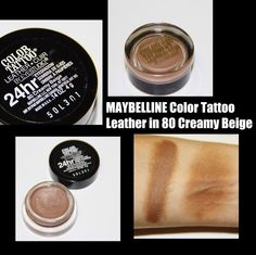 MichelaIsMyName: MAYBELLINE Color Tattoo Leather in 80 Creamy Beige...