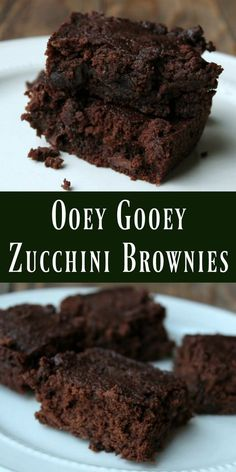 zucchini recipes Zucchini brownies that are so delicious and rich you would never guess theres vegetables hidden in them! This is truly one of the best brownie recipes I ever made. Healthy Desserts, Delicious Desserts, Yummy Food, Healthy Recipes, 100 Calorie Desserts, Healthy Homemade Snacks, Homemade Detox, Best Brownie Recipe, Brownie Recipes