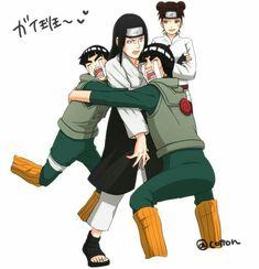 Naruto Shippuden Sasuke, Naruto Kakashi, Gaara, Anime Naruto, Fan Art Naruto, Neji And Tenten, Naruto Teams, Manga Anime, Funny Naruto Memes