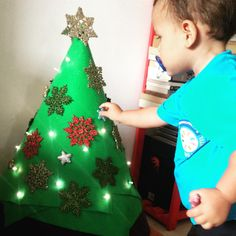Toddler-friendly Christmas tree!
