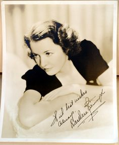 Barbara Stanwyck SIGNED Inscribed Early Vintage 8 by 10 Glamour Portrait Photo | eBay