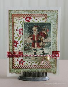 i rock paper and scissors: Hello Winter! Christmas Paper Crafts, Christmas Cards To Make, Retro Christmas, Xmas Cards, Christmas Art, Handmade Christmas, Holiday Cards, Craftwork Cards, Winter Cards