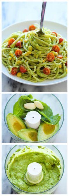 Easy, unbelievably creamy avocado pasta in 20 minutes.
