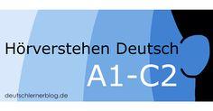 Trainiert euer Hörverstehen Deutsch A1 bis C2 mit unseren Übungen zum Hörverstehen. Bereitet euch optimal auf eure Deutschprüfung vor! Thing 1, Learn German, Baby Development, Novels, Teaching, Education, Audio, Home, Languages