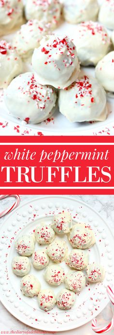 These mouth-watering white peppermint Oreo truffles are a no-bake, surprisingly easy holiday dessert!