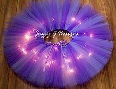 Purple And Lavender LED Light Up Tutu-Adult Tutu-Rave Tutu-Purple Rave Tutu…