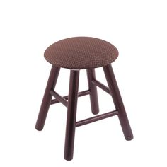 Holland Oak Vanity Stool with Fabric Seat Axis Willow - RC18OSMEDAXSWIL