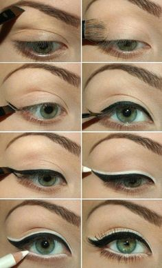 How to Use Eyeliners for Green Eyes   Makeup Tricks by Makeup Tutorials at http://makeuptutorials.com/12-best-makeup-tutorials-for-green-eyes