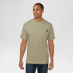 Dickies Men's Cotton Heavyweight Short Sleeve Pocket T