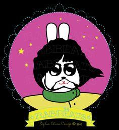 George Rabbëat* Yellow Submarine_Special Edition* Rabbëats by La Chica Conejo © 2013 All Rights Reserved #Georgeharrison #yellowsubmarine #poster #totebags #tshirts #rabbeatsbylachicaconejo #rabbeats #specialedition #yellowsubmarine #canyoupasstheacidtest #love #yes #camafeos #cameos #rings #tshirts #personajes #anillos #totebags #rabbeatsbylachicaconejo