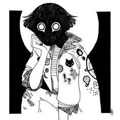 Искусство discovered by Rei Altman on We Heart It Dessin Old School, Arte Emo, Arte Sketchbook, Creepy Art, Horror Art, Vent Art, Character Design Inspiration, Animes Wallpapers, Aesthetic Art