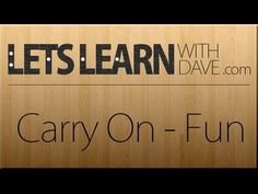 Let's Learn: Carry On - Fun (guitar lesson / how to learn by ear) Acoustic Guitar Lessons, Carry On, Let It Be, Songs, Learning, Youtube, Fun, Hand Luggage, Carry On Luggage