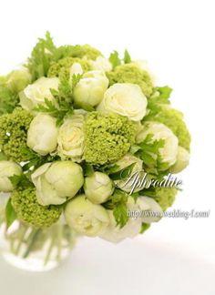 ウエディングブーケ専門ショップ・アフロディーテ(Wedding Bouquet Aphrodite)  ビバーナムとゼラニウムのブーケ★
