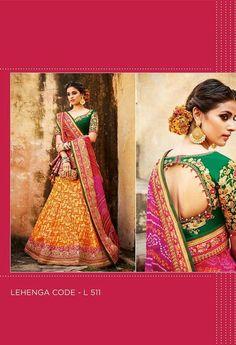 Embroidered Lehenga & Tussar Silk Blouse..@ fashionsbyindia.com #designs #indian #womens #style #cloths #stylish #casual #fashionsbyindia #punjabi #suits #wedding #chic #elegance #beauty #outfits #fantasy #embroidered #dress #PakistaniFashion #Fashion #Longsuit #FloralEmbroidery #Fashionista #Fashion2015 #IndianWear #WeddingWear #Bridesmaid #BridalWear #PartyWear #Occasion #OnlineShopping #salwar #kameez #lehenga Western Outfits, Indian Outfits, Floral Embroidery, Hand Embroidery, Lehenga Online, Party Wear Lehenga, Georgette Fabric, Half Saree, Wedding Wear