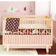 Skip Hop Pink Elephant 4 pc Crib set by Skip Hop at BabyEarth.com, $99.00
