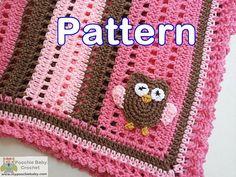 PATTERN Crochet Baby Owl Blanket by PoochieBaby on Etsy