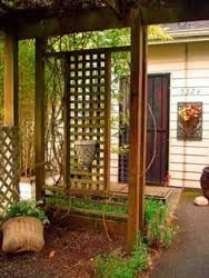 Spaces Trellis Design, Pictures, Remodel, Decor and Ideas - page 5 Landscaping Calgary, Backyard Landscaping, Landscaping Ideas, Trellis Design, Trellis Ideas, Lattice Design, Square Lattice, Yard Design, Fence Design
