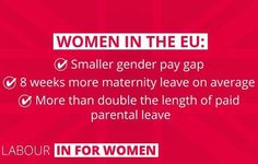 Women will benefit if the United Kingdom remains in the EU. That is why Labour is IN for Britain #voteremain #labourinforbritain #eureferendum #labourparty #votelabour http://www.australiaunwrapped.com/