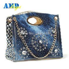 2015-Chain-Woven-design-brand-women-s-Denim-Handbags-with-Rhinestone-Blue-jeans-Shoulder-bags-bling.jpg (800×800)