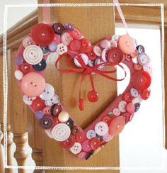 Valentine Crafts with Buttons