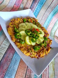 Cizrnová omeleta | Veganská liška Veggie Recipes, Avocado Toast, Vegetable Pizza, Tacos, Vegetables, Breakfast, Ethnic Recipes, Food, Morning Coffee