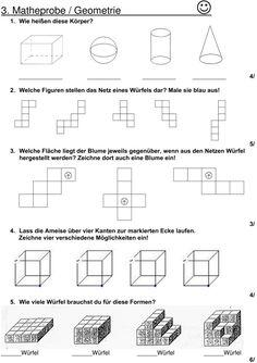 geometrische k rper 3 klasse mathe 3 klasse. Black Bedroom Furniture Sets. Home Design Ideas