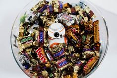 A Star Wars Candy Bowl DIY For the Most Dedicated Fans The following post was originally featured on All For the Boys and written by Allison Waken, who is part of POPSUGAR Select Moms.    My boys LOVE checking out the Halloween section at Target each year when all the new items get put out. There are all kinds of great Star Wars products this year because of The Force Awakens, which only helps to get us more excited. The boys spotted these Halloween Star Wars window clings and while I wasn't…