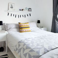 Looking for modern bedroom decorating ideas? Take a look at this Scandi influenced bedroom from ideal Home for inspiration. For more bedroom ideas, such as how to decorate an attic bedroom, visit our bedroom galleries Monochrome Bedroom, Scandinavian Bedroom, White Bedroom, Scandinavian Style, Modern Bedroom, Bedroom Decor, Bedroom Ideas, Grey Bedrooms, Minimalist Bedroom